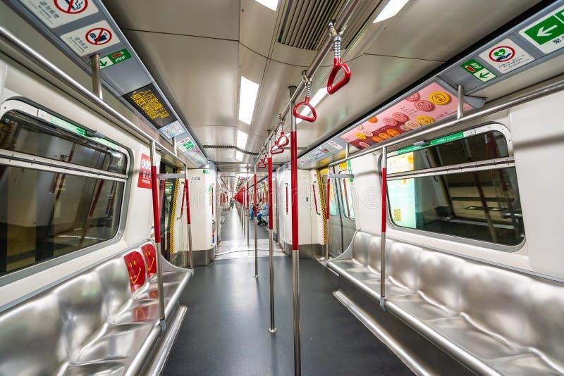Hong Kong, Cina - 14 settembre 2018: La stazione della metropolitana di Mtr è Th fotografia stock