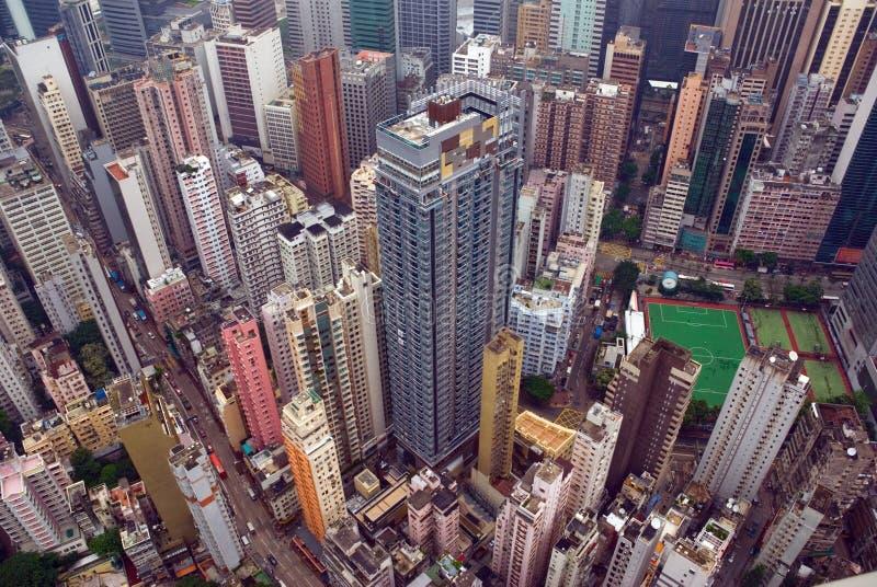 Hong Kong City aerial view stock photo