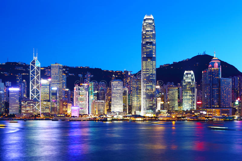 Download Hong Kong city stock photo. Image of background, office - 32136666