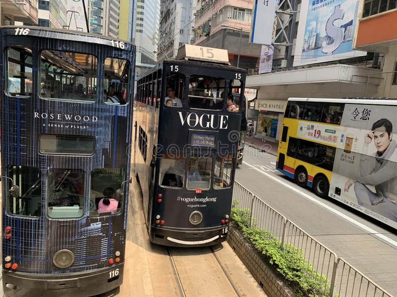 Hong Kong City regarde des angles multi photos stock