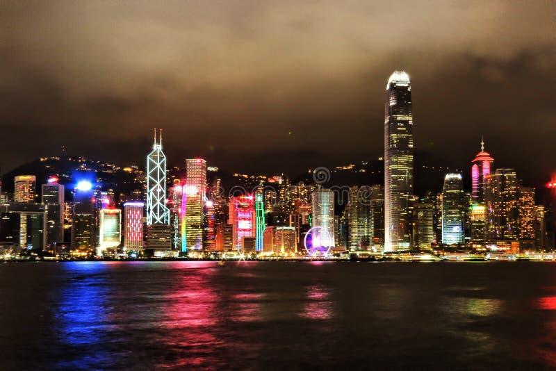 Hong Kong city skyline royalty free stock photo