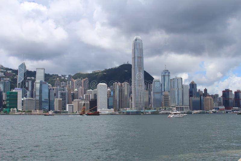 Hong Kong City Skyline par jour photographie stock
