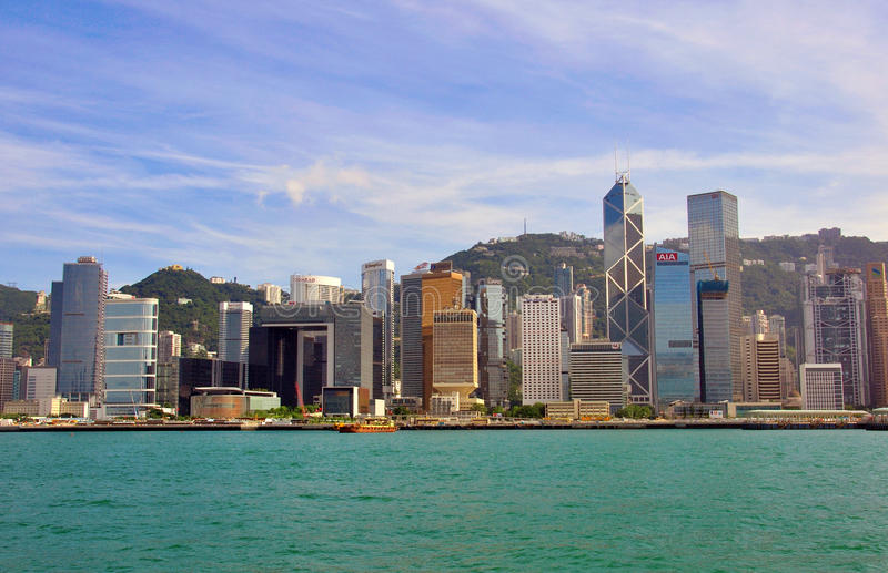 Download Hong Kong cityscape editorial photography. Image of metropolis - 36820092