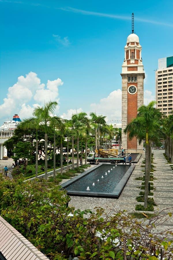 Hong Kong clock tower royalty free stock images