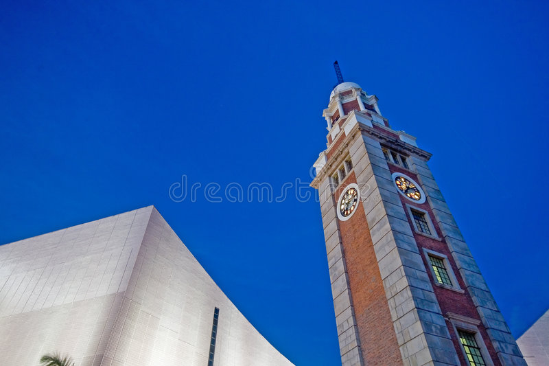 Hong Kong Clock Tower in Tsim Sha Tsui (hkdigit-060816-191447) stock images