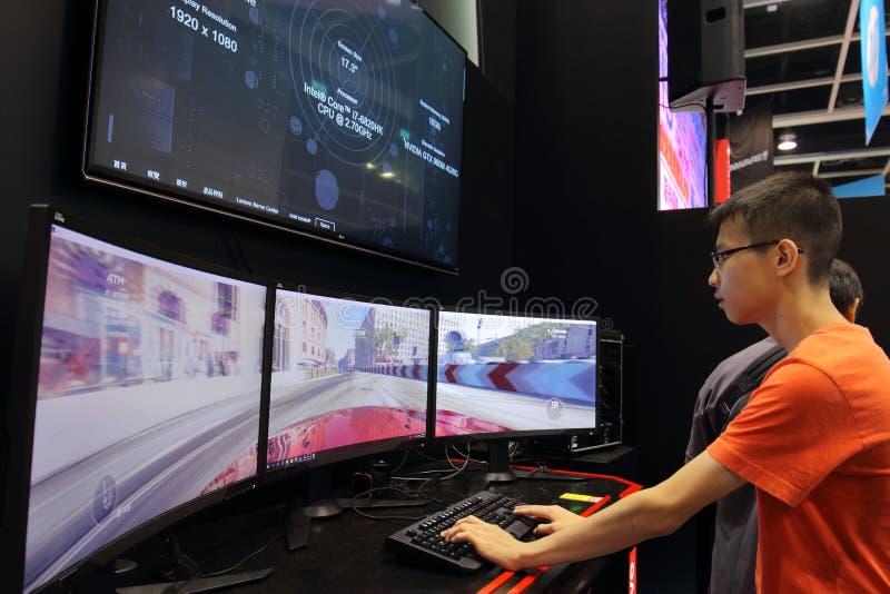 Hong Kong Computer & kommunikationsfestival 2016 royaltyfria foton