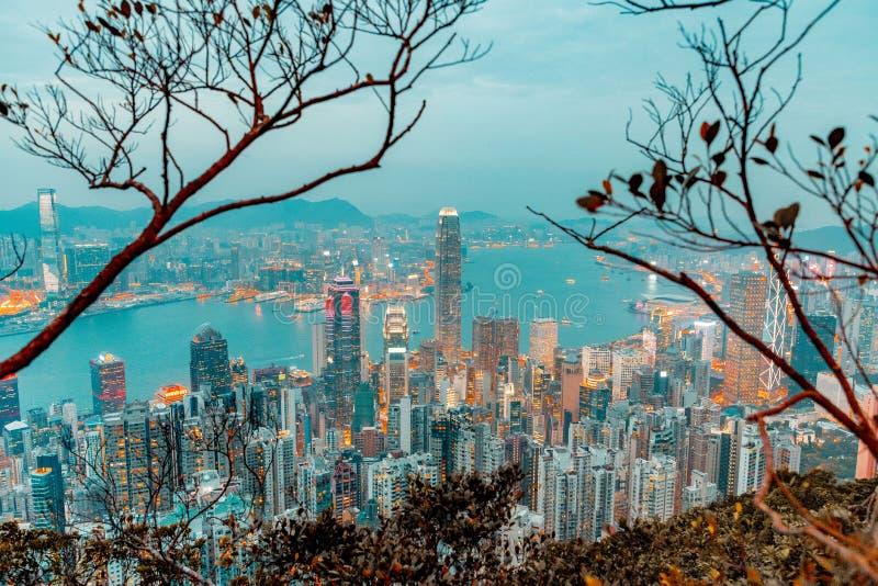 Hong Kong con una prospettiva diversa fotografie stock libere da diritti