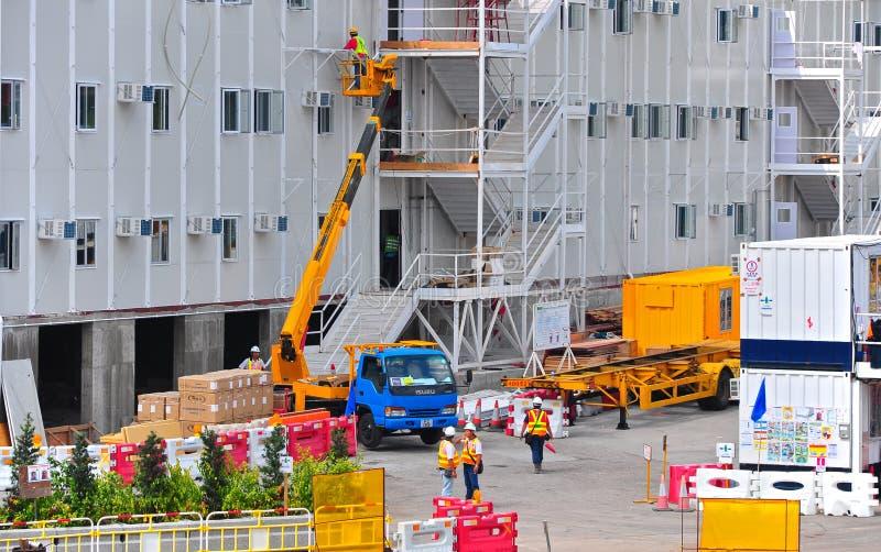 Hong Kong Construction Site Editorial Stock Photo