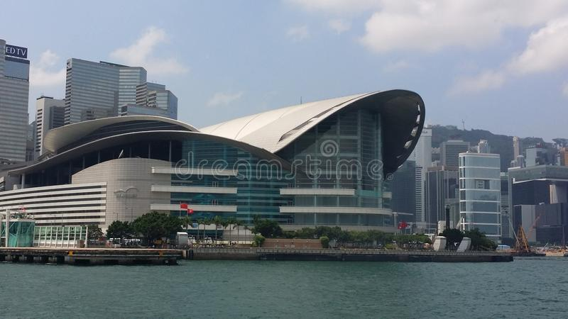 Hong Kong Convention & exhibition center stock image