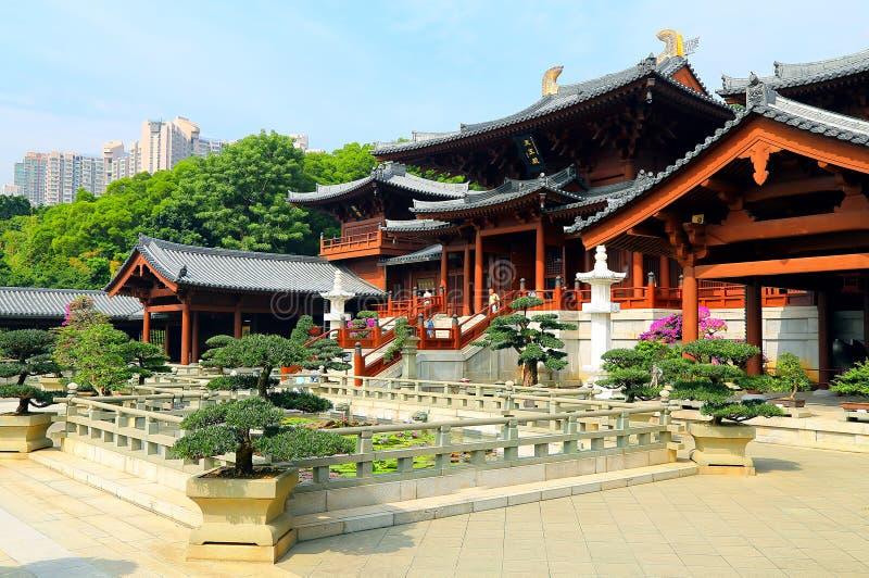 Hong-Kong: convento de monjas del budista de lin de la ji imagen de archivo libre de regalías