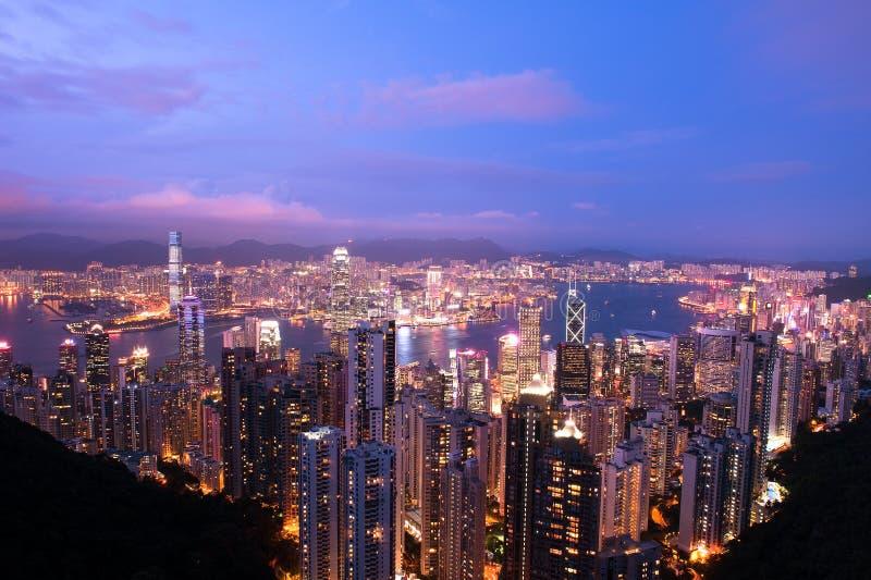 Hong-Kong crepuscular imagen de archivo libre de regalías