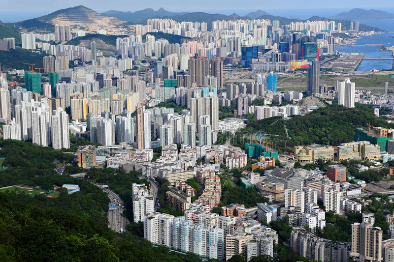 Download Hong Kong crowded city stock image. Image of construction - 22733167