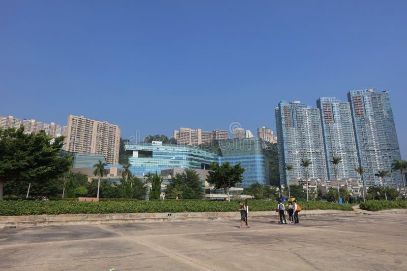 Hong kong, cyberport royalty free stock photo