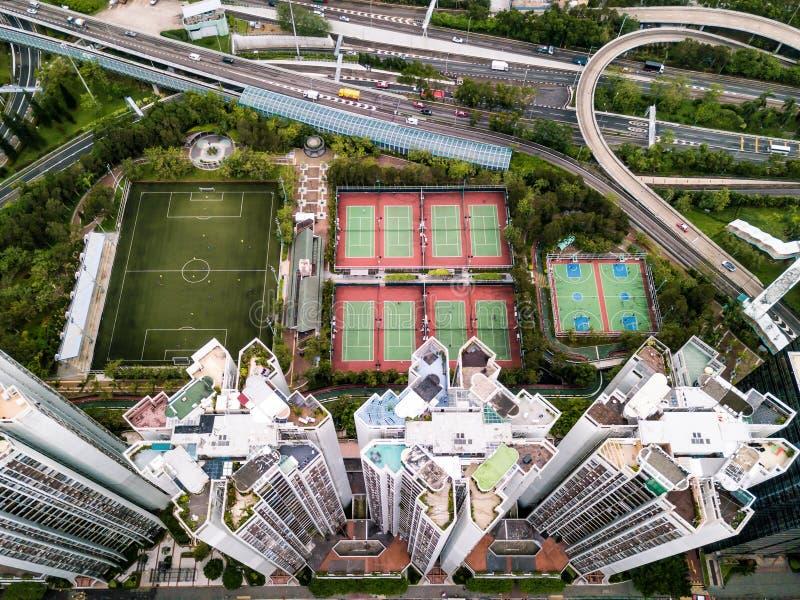 Hong Kong da sopra immagine stock