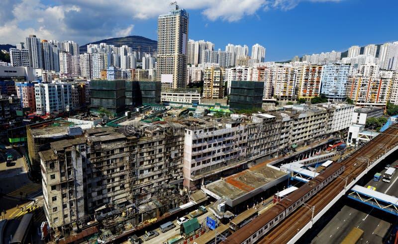 Hong Kong Day den Kwun tången distraherar fotografering för bildbyråer