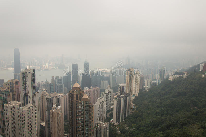 Hong Kong de crête de Victoria image stock