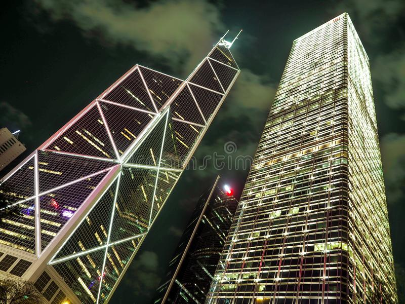 Hong Kong - 9 DE DICIEMBRE DE 2016: Oficina del Banco de China el 9 de diciembre en China, Hong Kong El edificio de oficinas del  foto de archivo