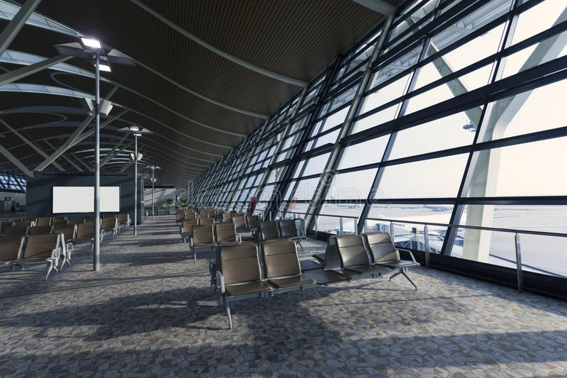 Hong Kong-de luchthaven eindbouw royalty-vrije stock fotografie