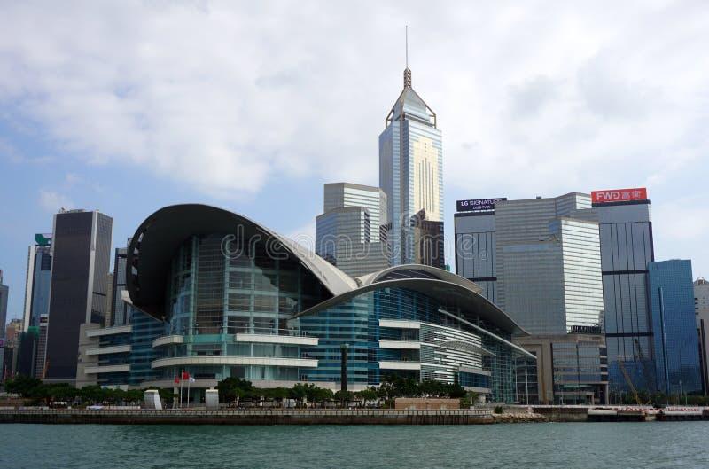 Hong Kong - 22 de septiembre de 2018: Bahía de Hong Kong Victoria Harbour Victoria fotos de archivo libres de regalías