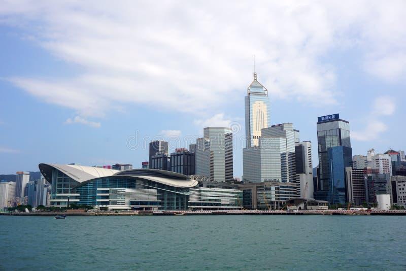 Hong Kong - 22 de septiembre de 2018: Bahía de Hong Kong Victoria Harbour Victoria foto de archivo