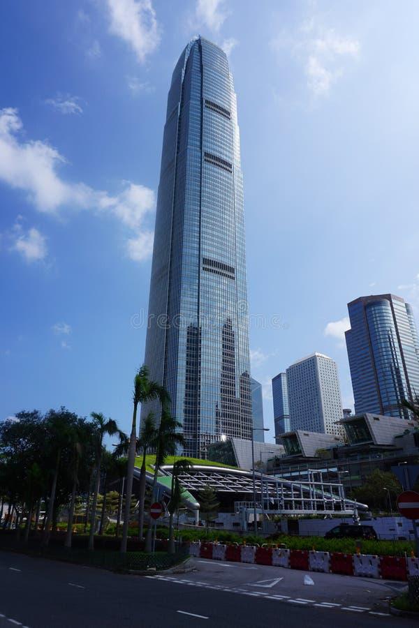 Hong Kong - 22 de setembro de 2018: Centro das finanças internacionais, Hong Kong fotos de stock
