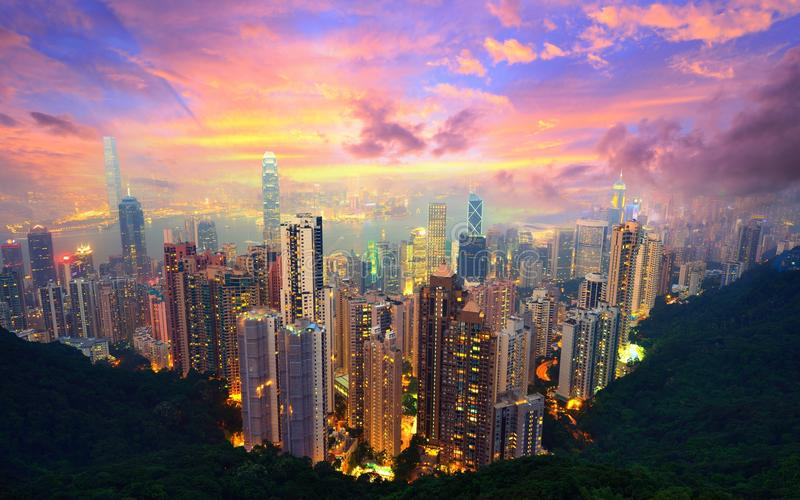 Hong Kong de Victoria Peak imagens de stock royalty free