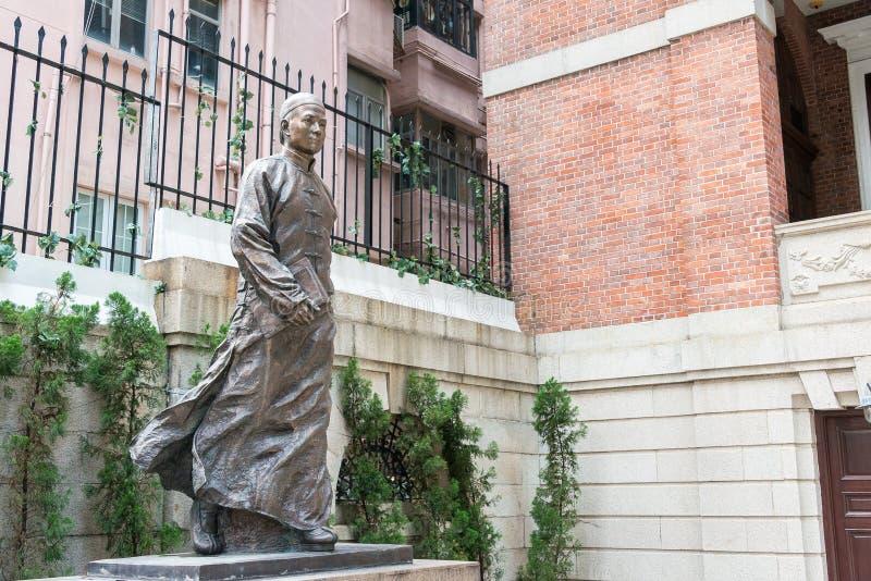 Hong Kong, Dec - 02 2015: Dr Sun Yat-sen statua przy Dr Sun Yat-sen zdjęcia stock