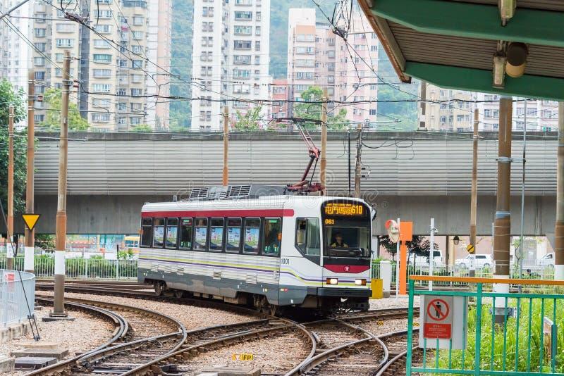 Hong Kong, Dec - 03 2015: Hong Kong MTR światła poręcz System op zdjęcie stock