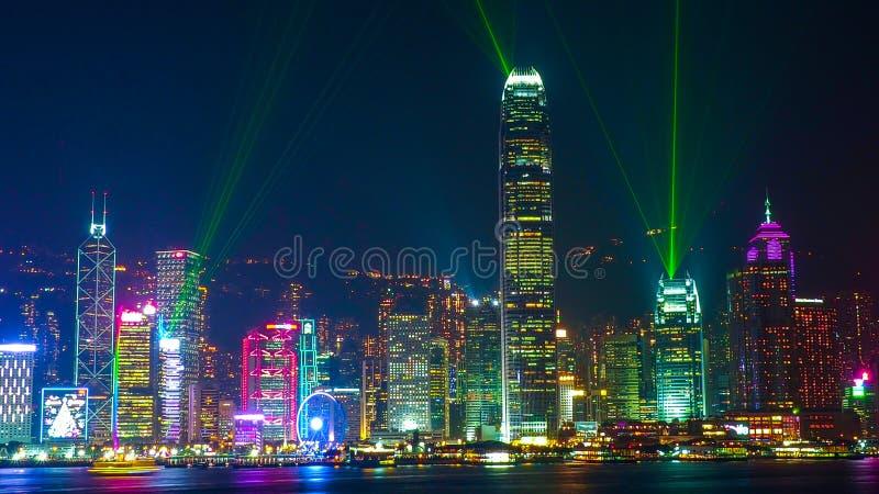 HONG KONG - Dec 08, 2016: Symphony of life Hong Kong and Victoria Harbor. Travel destinations.  stock photo
