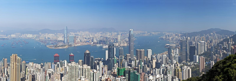 Hong Kong in der Tageszeit lizenzfreies stockbild