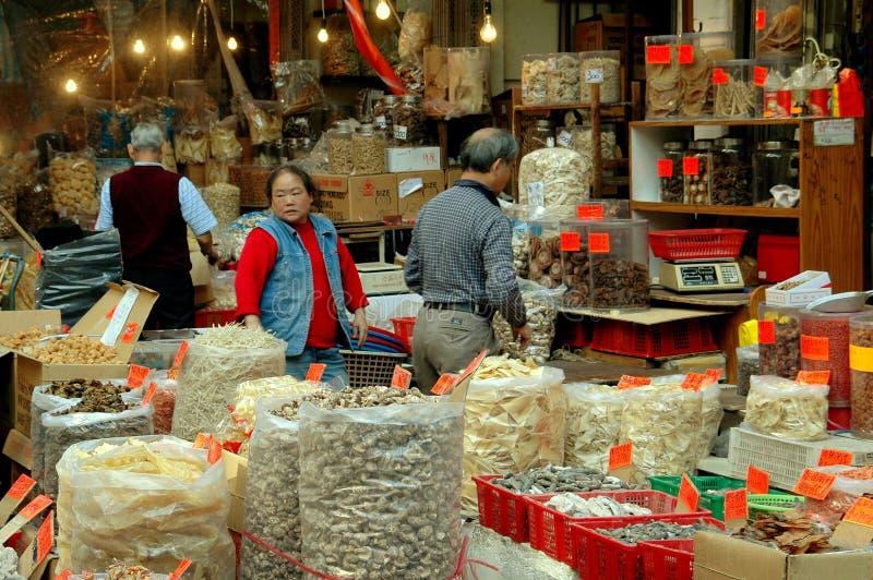 Hong Kong: Des Voeux Road Food Shop royalty free stock photography