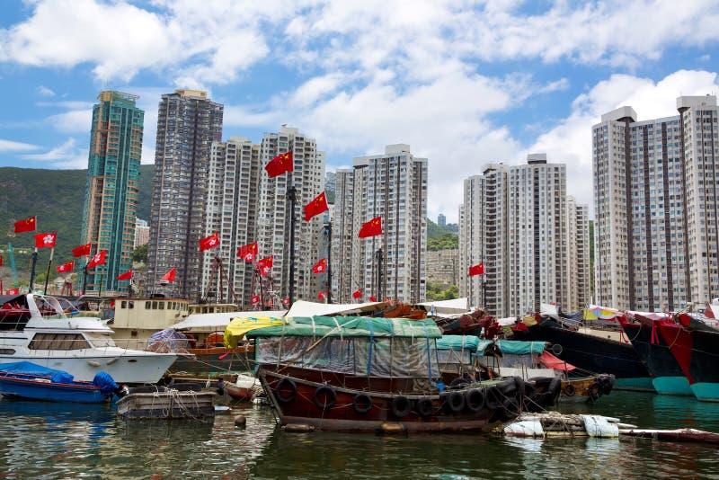 Hong Kong, desperdicios tradicionales en la Aberdeen fotos de archivo