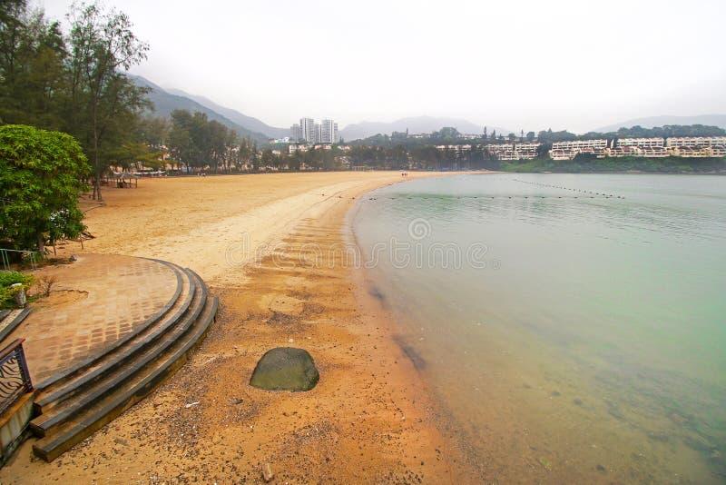 Hong Kong Discovery Bay La mayoría visitaron la playa en la isla de Lantau imagen de archivo libre de regalías