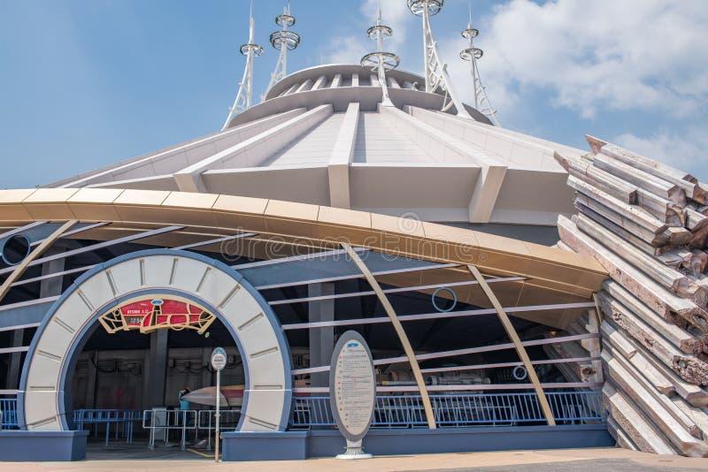 Hong Kong Disneyland Theme Park royaltyfri foto