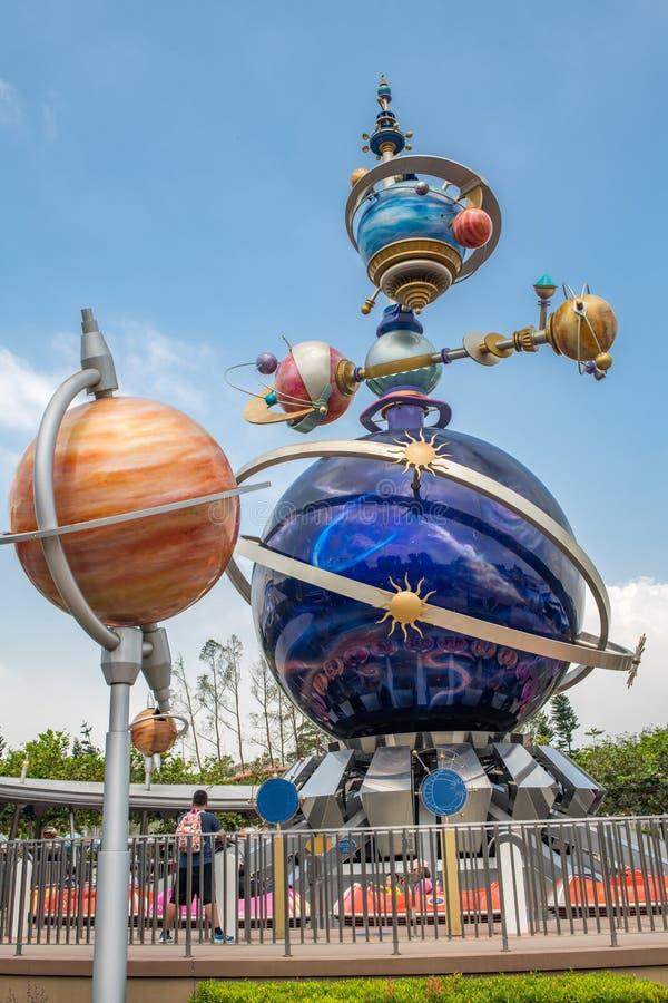 Hong Kong Disneyland Theme Park fotografering för bildbyråer
