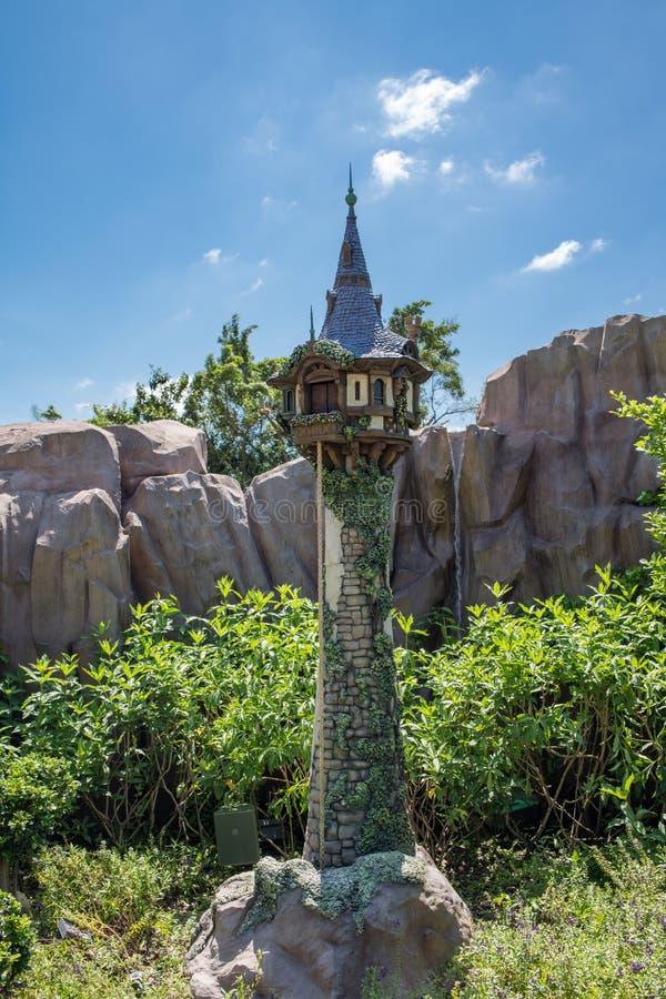 Hong Kong Disneyland Theme Park arkivfoton
