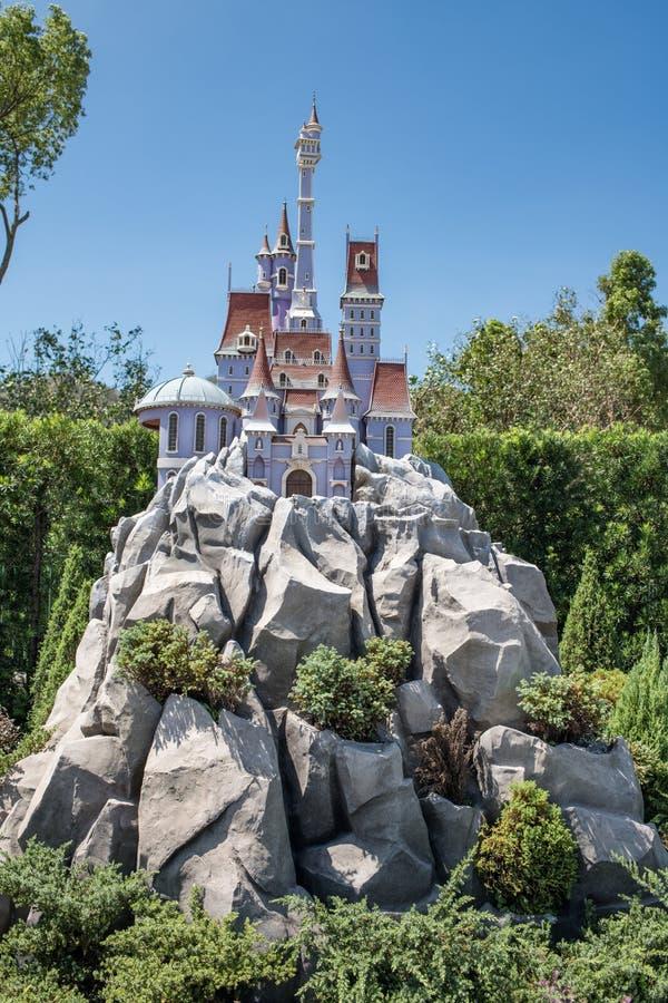 Hong Kong Disneyland Theme Park arkivbild