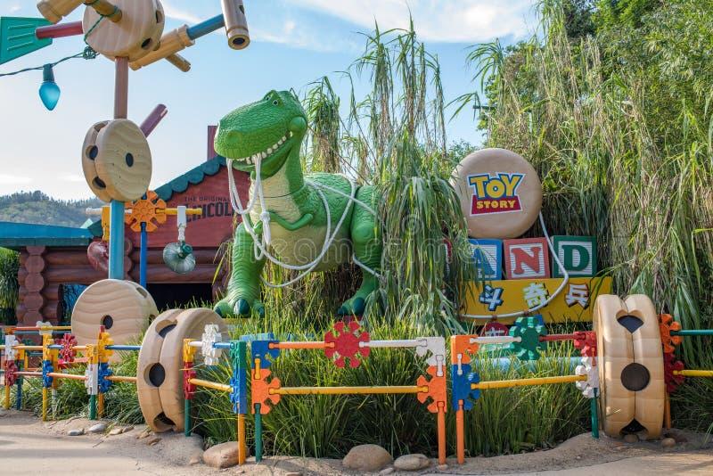 Hong Kong Disneyland Theme Park arkivbilder