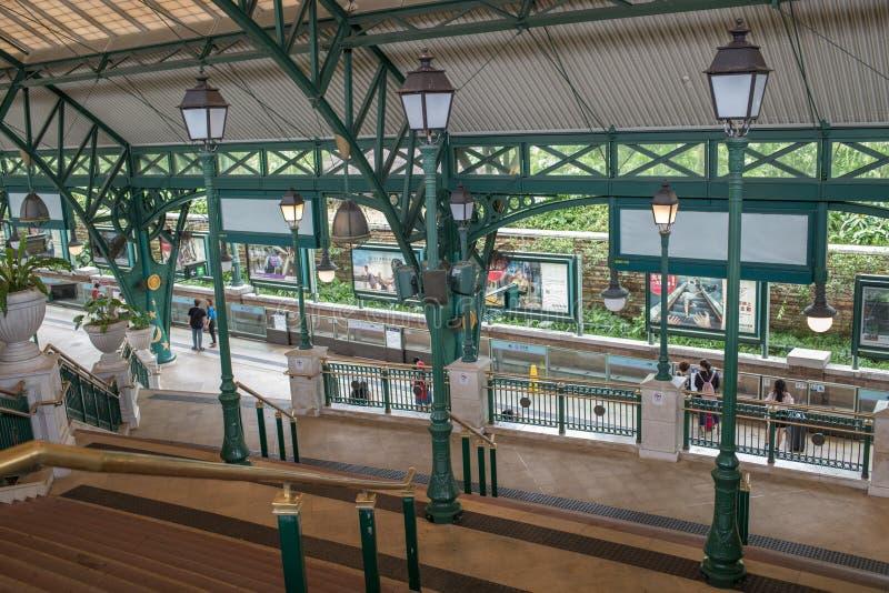 Hong Kong Disneyland Train Station imagem de stock royalty free