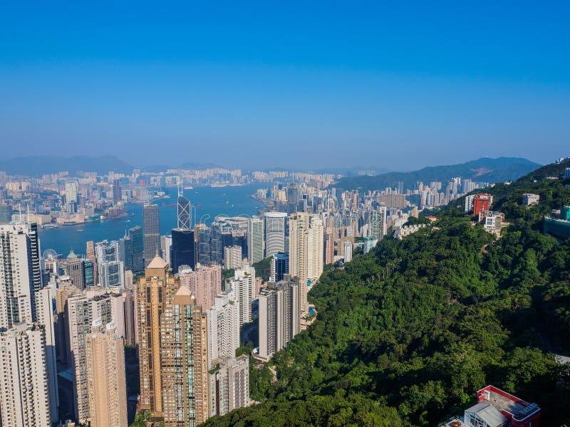 Hong Kong do pico de Victoria fotos de stock
