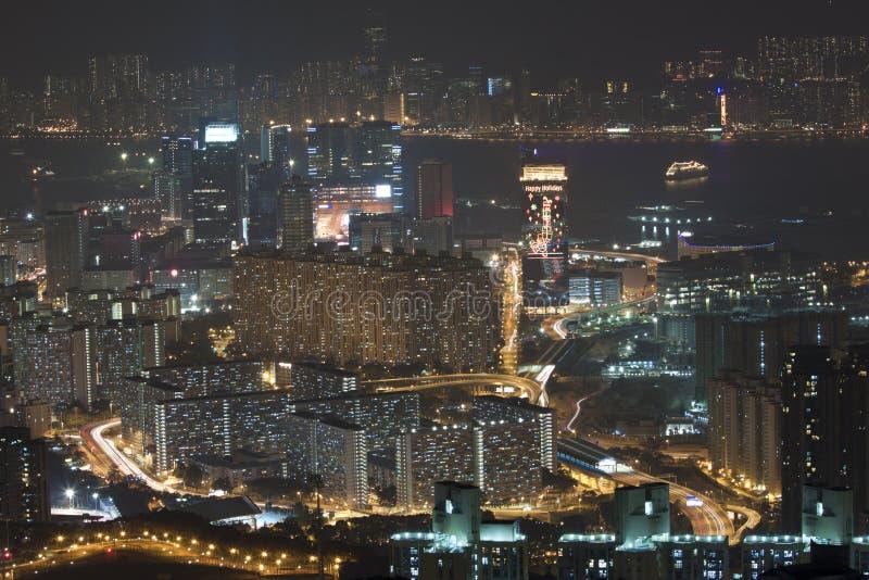 Download Hong Kong Downtown At Night, Kowloon Side. Stock Photo - Image: 23012904