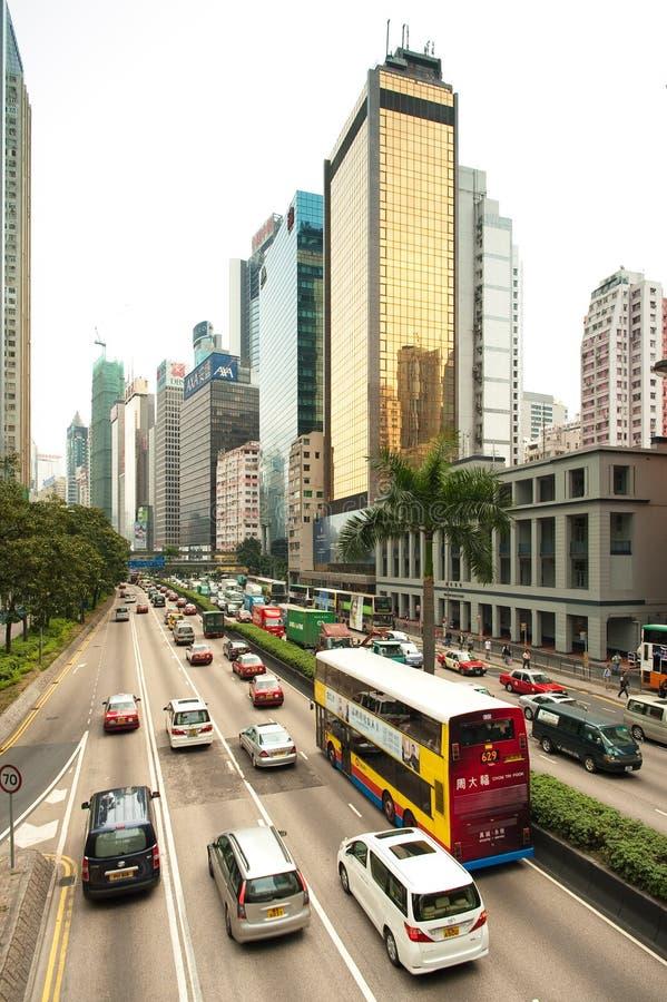 Hong Kong Downtown traffic stock photography