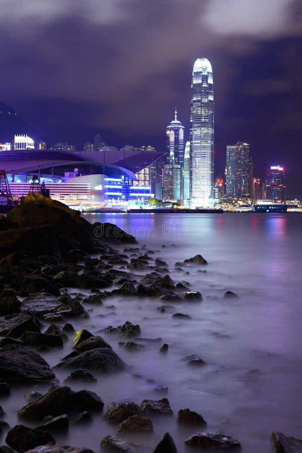 Hong Kong du centre avec la plage photographie stock libre de droits