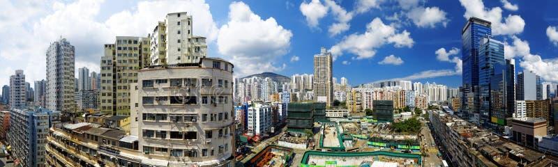 Hong Kong dzień, Kwun Tong rozprasza uwagę zdjęcie stock