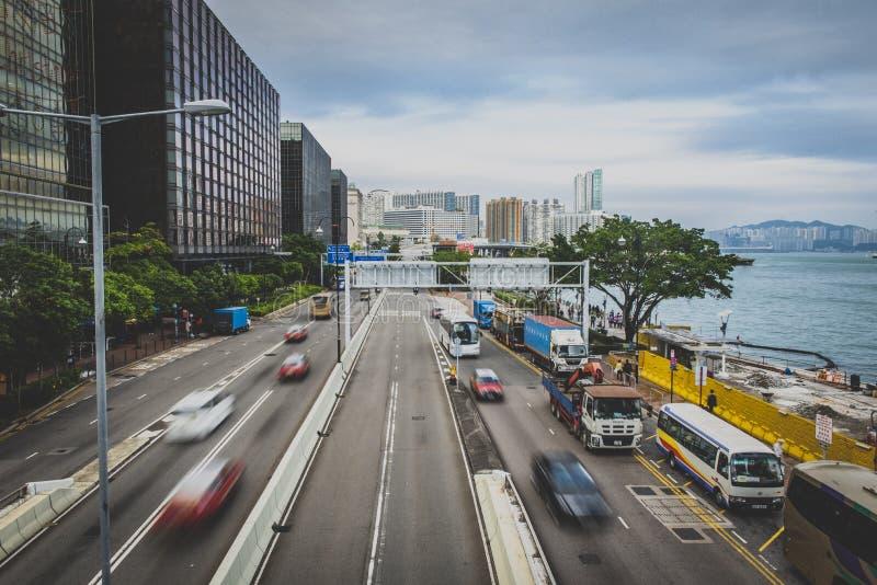 Hong Kong, em novembro de 2018 - cidade bonita fotografia de stock royalty free