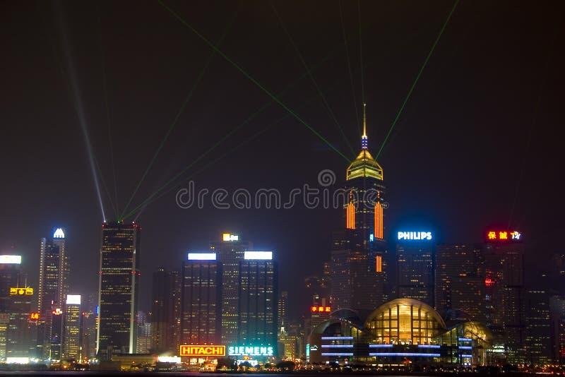 Hong-Kong en la noche imagen de archivo libre de regalías