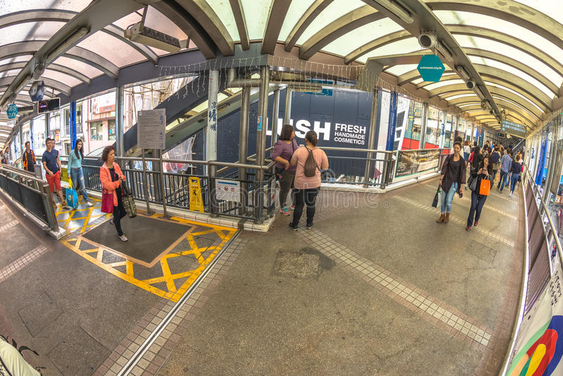 Hong Kong Escalator fotografie stock