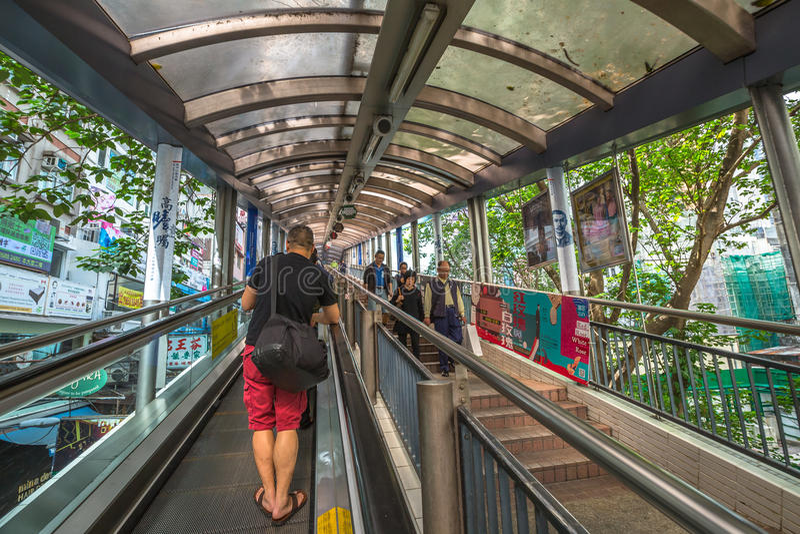 Hong Kong Escalator fotografia stock