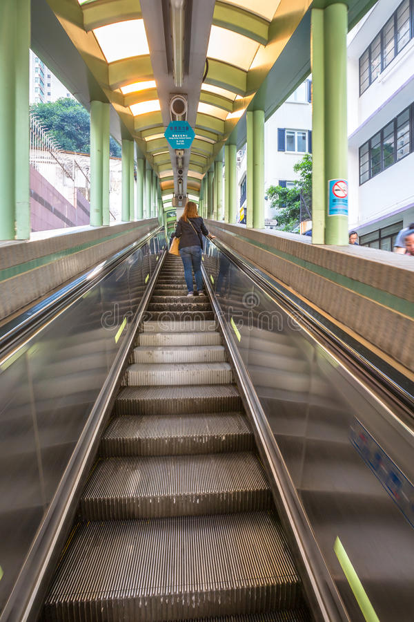 Hong Kong Escalator fotografia stock libera da diritti