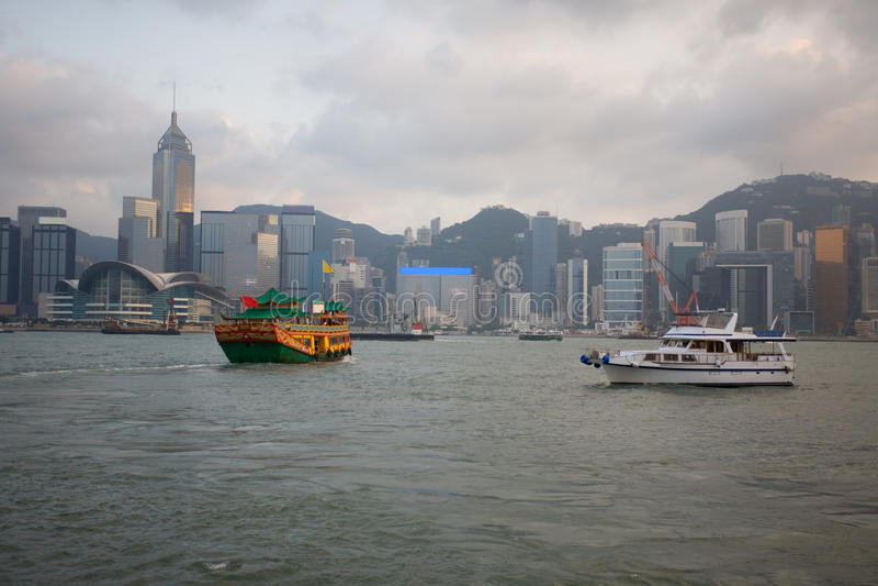 Download Hong Kong at evening stock photo. Image of hongkong, downtown - 23697924